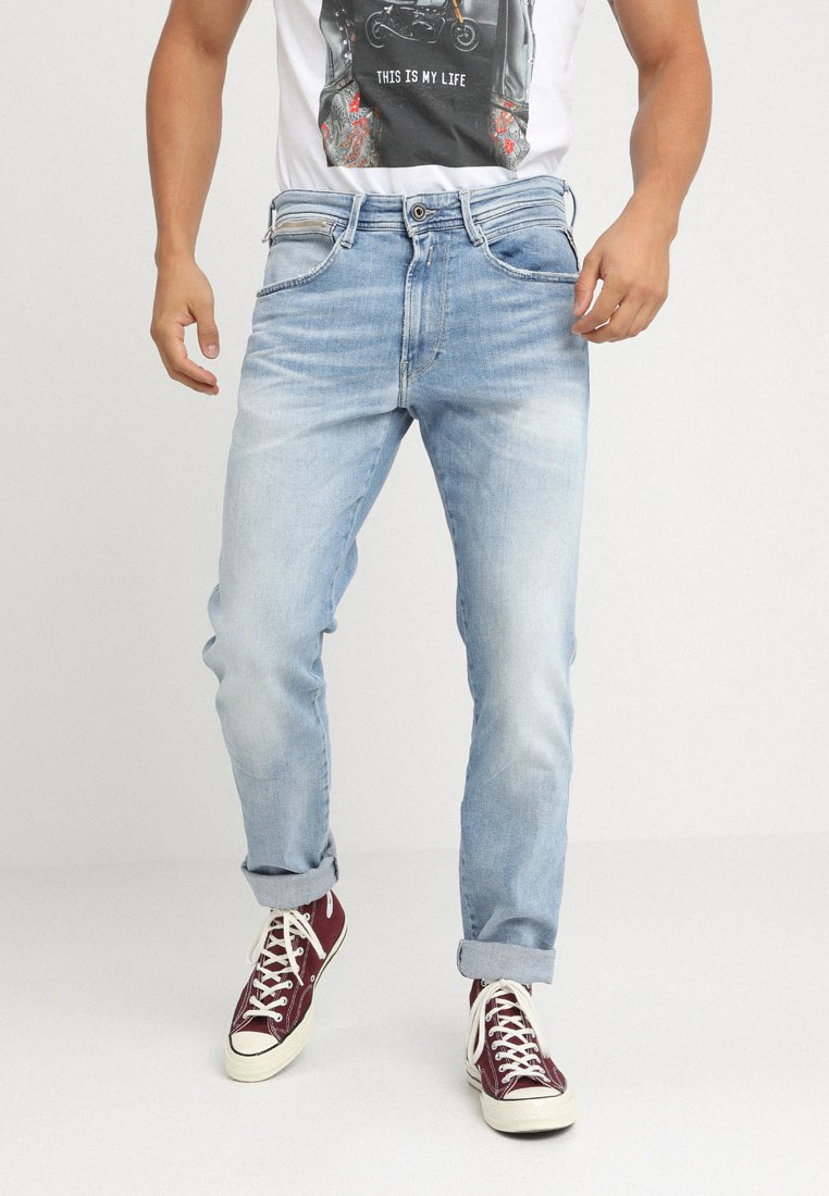 Replay - ANBASS COIN ZIP - Jeans Slim Fit - light blue