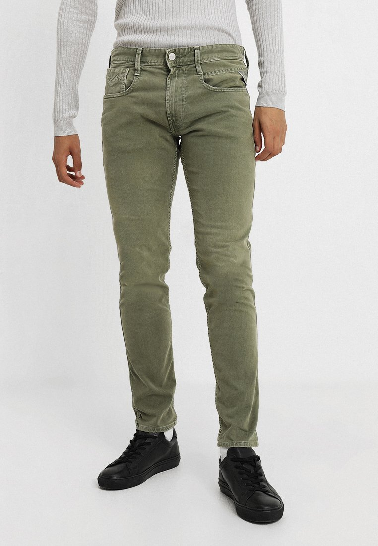 Replay - ANBASS - Vaqueros slim fit - olive