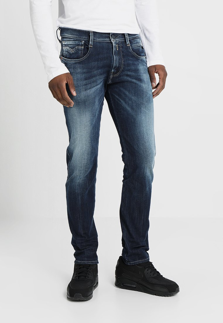 Replay - HYPERFLEX + ANBASS - Jeans Straight Leg - dark blue