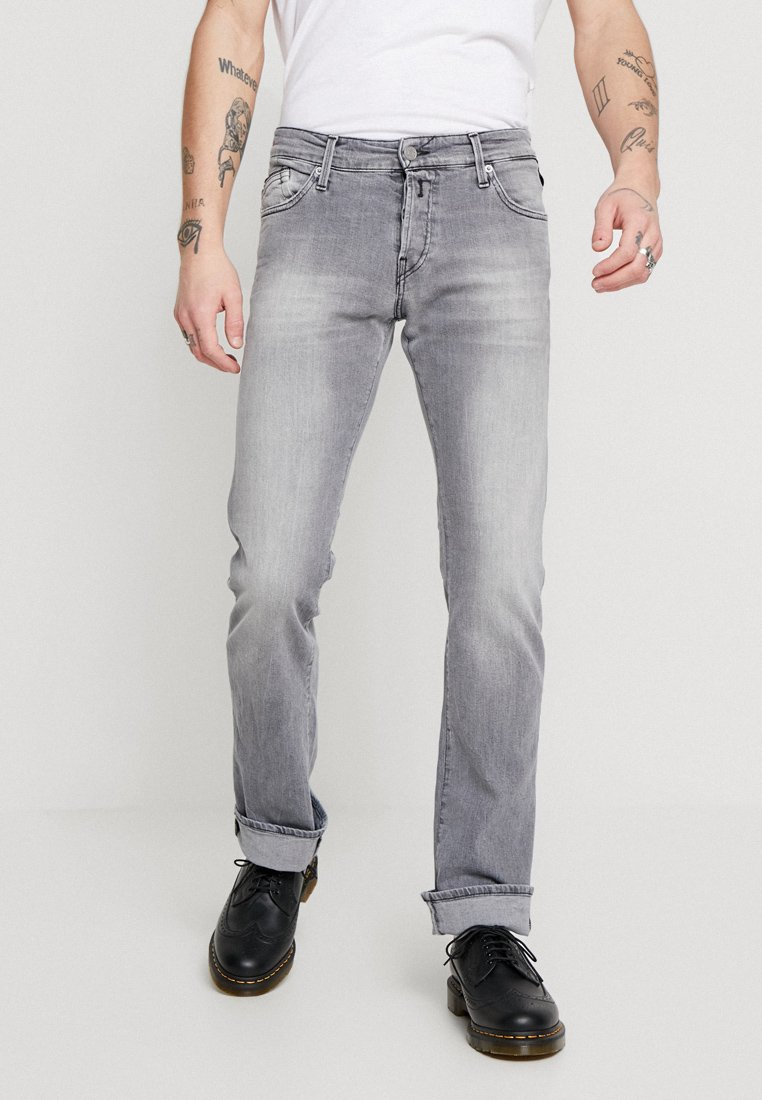 Replay - NEW JIMI - Jeans Bootcut - grey denim