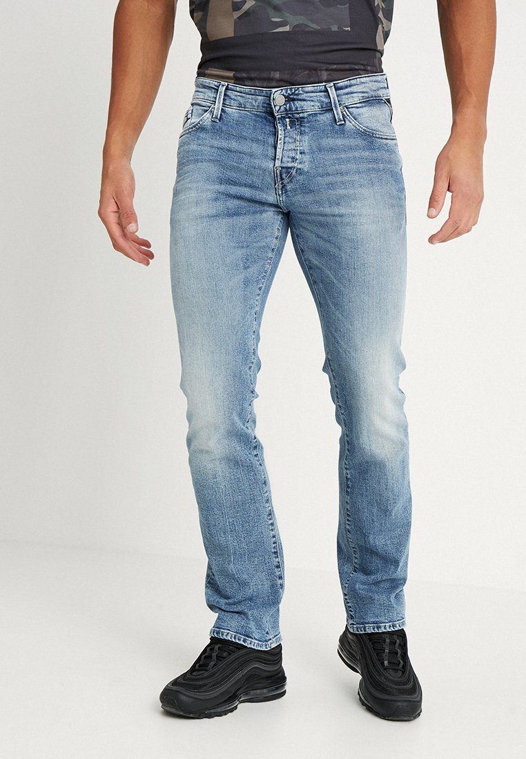 Replay - NEW JIMI - Bootcut jeans - blue denim
