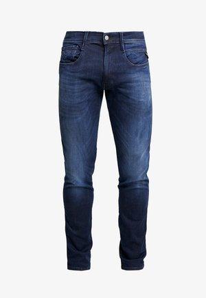 ANBASS HYPERFLEX CLOUDS - Vaqueros slim fit - dark blue