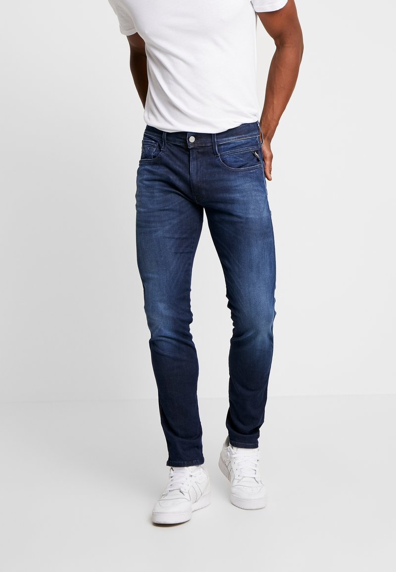 Replay - ANBASS HYPERFLEX CLOUDS - Jeans Slim Fit - dark blue