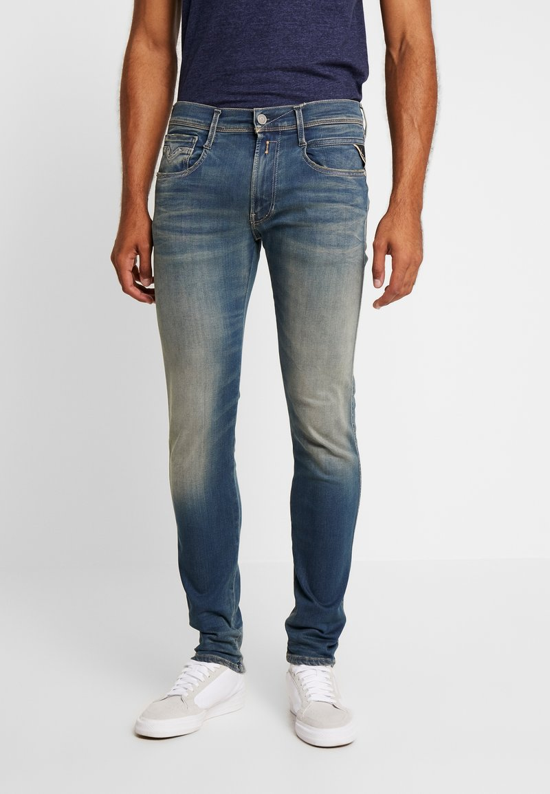 Replay - ANBASS HYPERFLEX - Jeans Slim Fit - dark blue