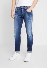 Replay - ANBASS HYPERFLEX - Slim fit jeans - dark blue - 0