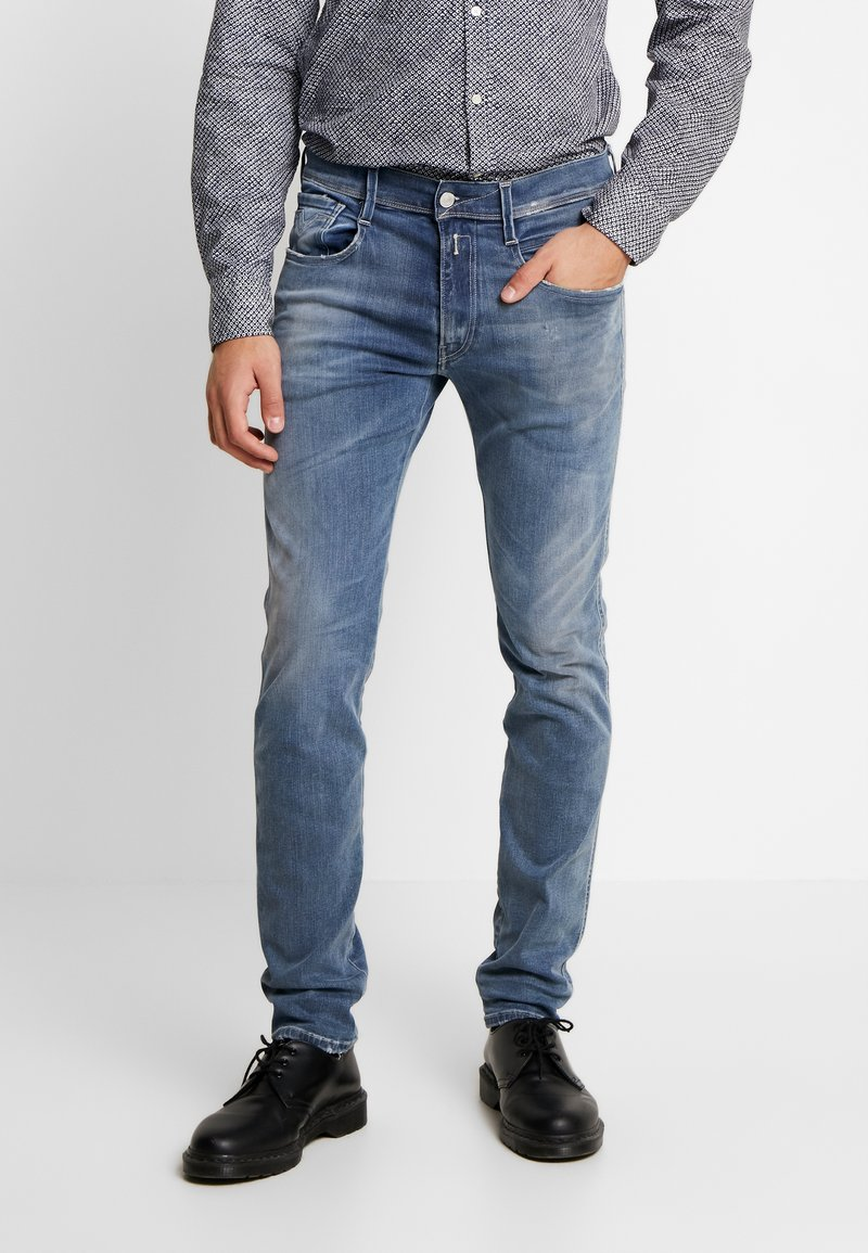 Replay - ANBASS HYPERFLEX  - Jeans slim fit - medium blue
