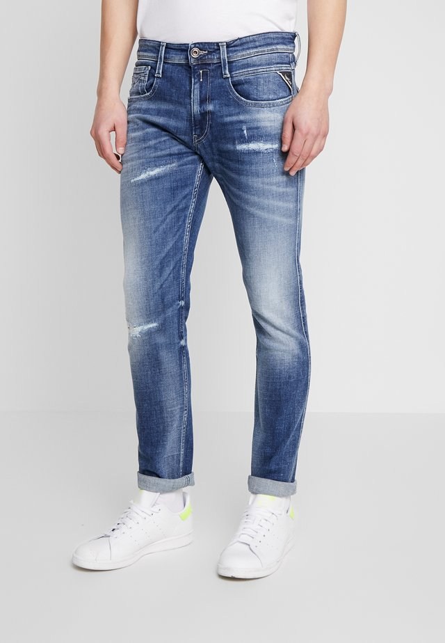 ANBASS - Jeans slim fit - medium blue