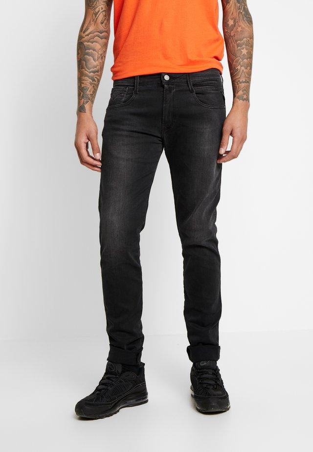 ANBASS - Jean slim - dark grey