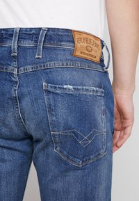 Replay - ANBASS - Jeans a sigaretta - dark blue - 5