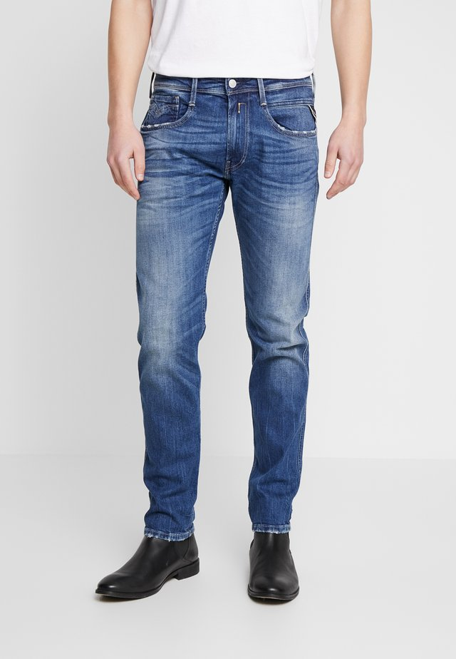 ANBASS - Jeans Straight Leg - dark blue