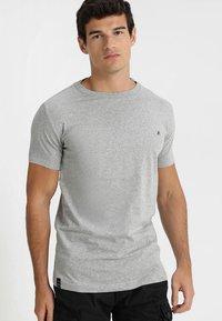 Replay - 2 PACK - Basic T-shirt - grey melange - 1