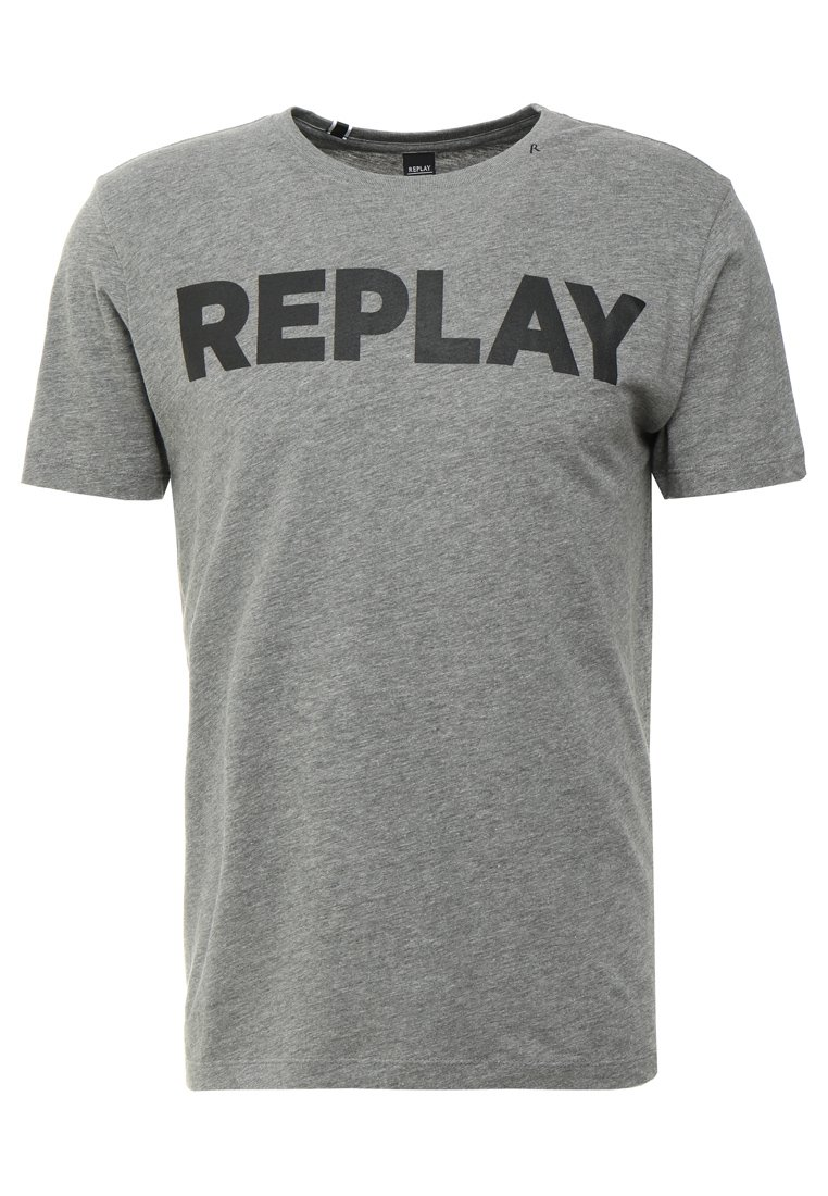 T shirt print dark grey melange