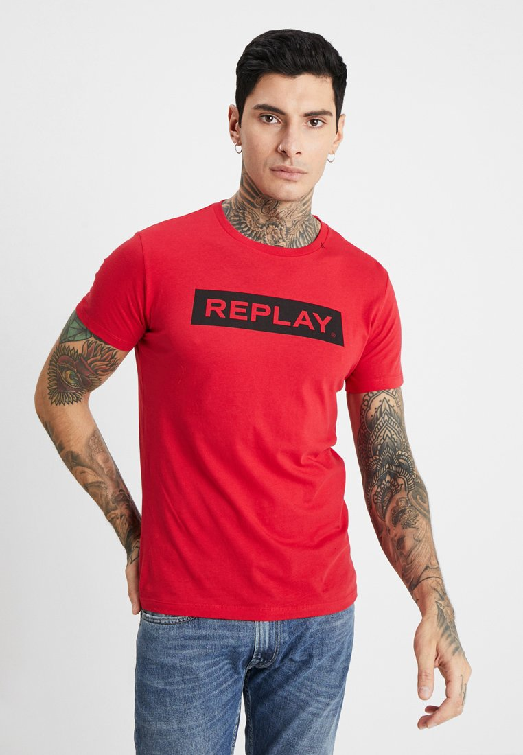 Replay - T-Shirt print - tomato red