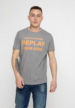 T-shirts med print - dark grey melange