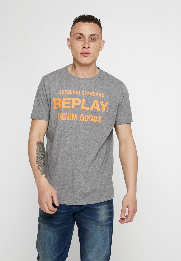 Replay - T-Shirt print - dark grey melange