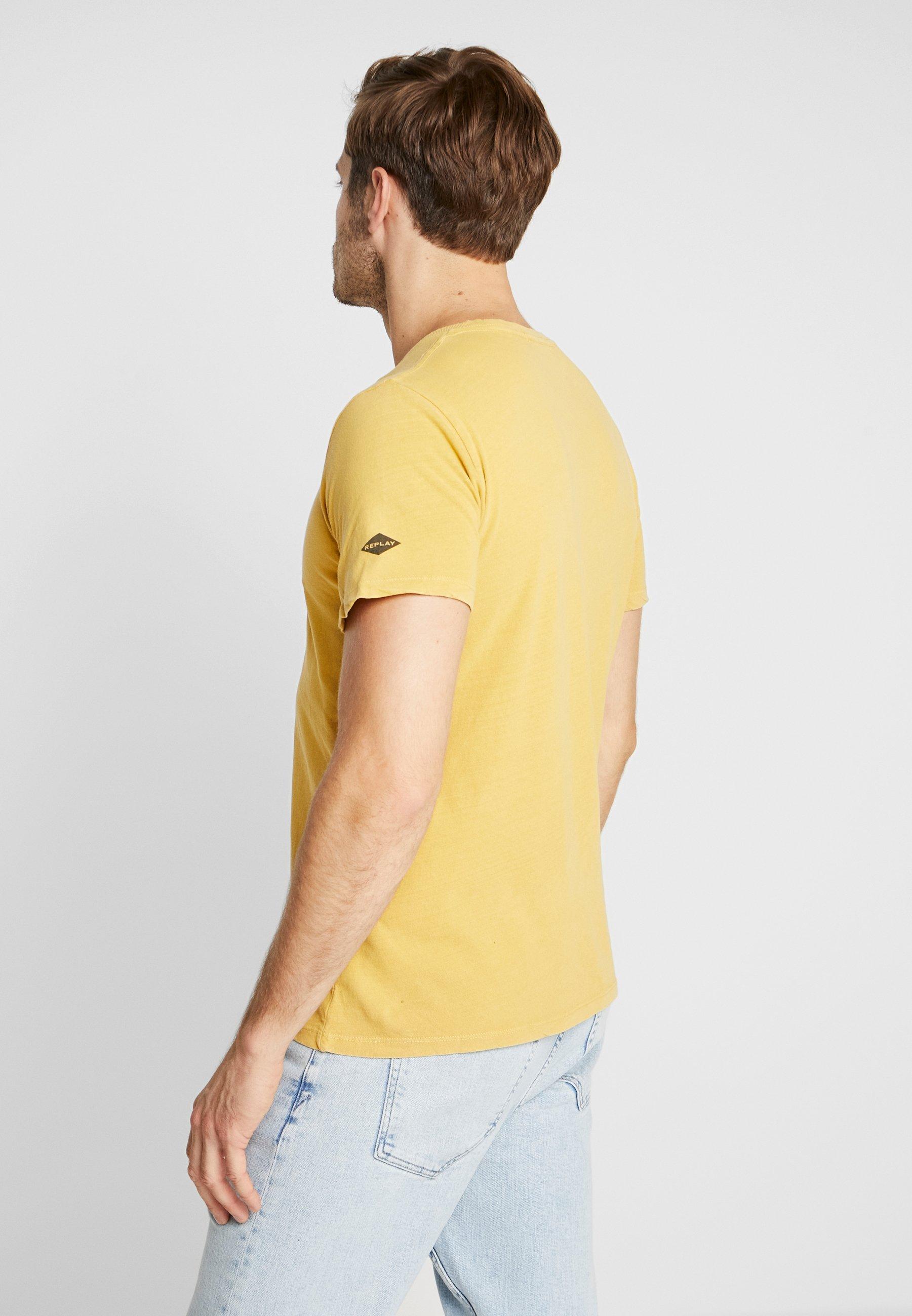 Yellow shirt Replay Basic Vintage T QxoECBedrW