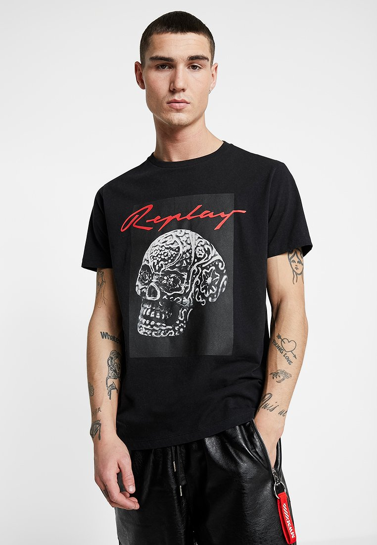 Replay - Print T-shirt - black