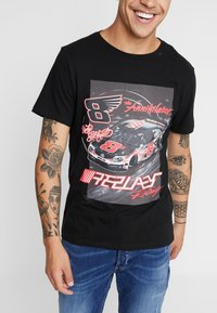 Replay - T-shirts med print - black - 4