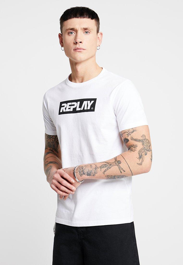 Replay T shirt T T Replay ImpriméWhite ImpriméWhite Replay shirt OkPZiuX