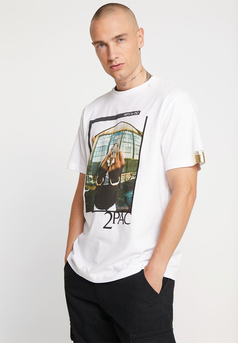 Replay - 2PAC TEE - T-shirt med print - white