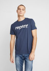 Replay - T-shirt con stampa - night blue - 0