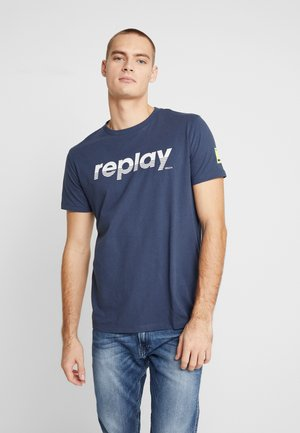 T-shirt con stampa - night blue