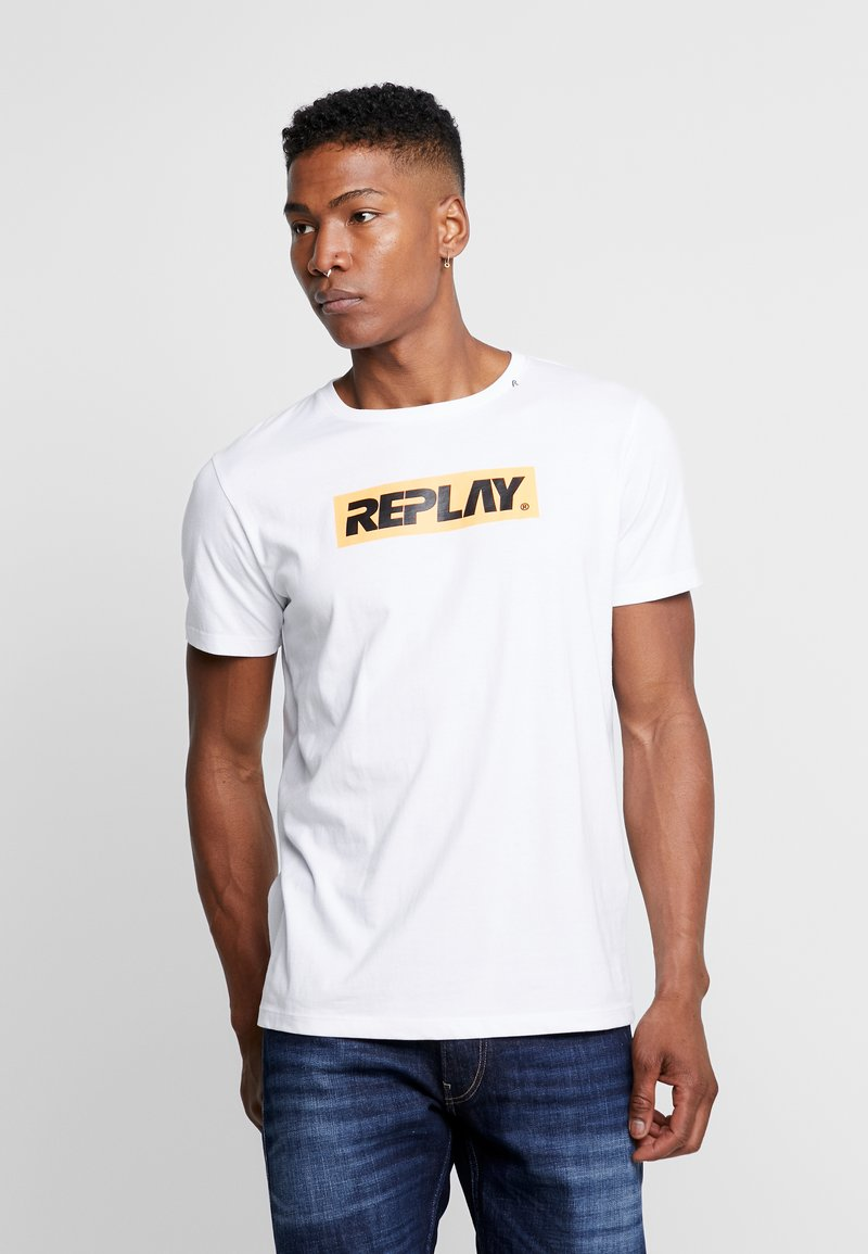 Replay - T-shirt con stampa - white