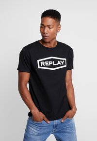 Replay - T-shirt con stampa - black - 0