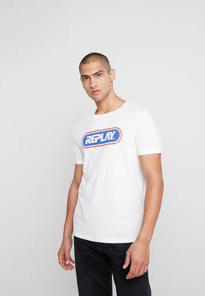 T-shirt con stampa - chalk