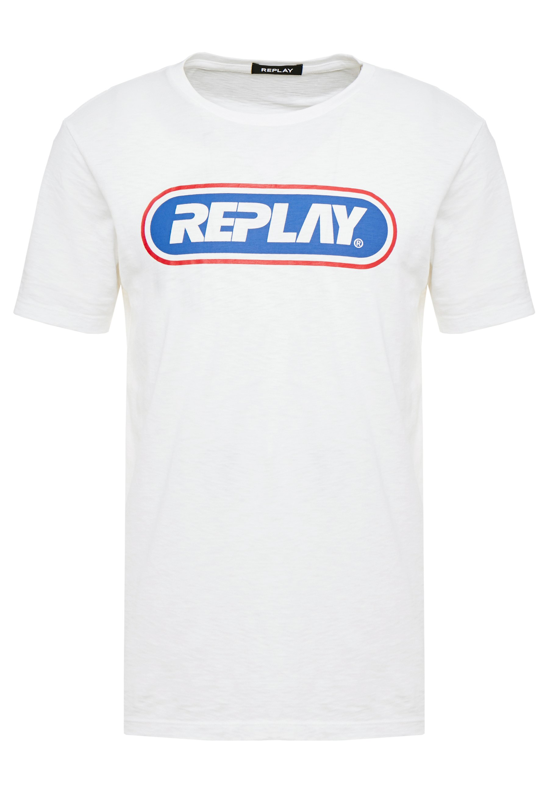 Replay T-shirt z nadrukiem - chalk