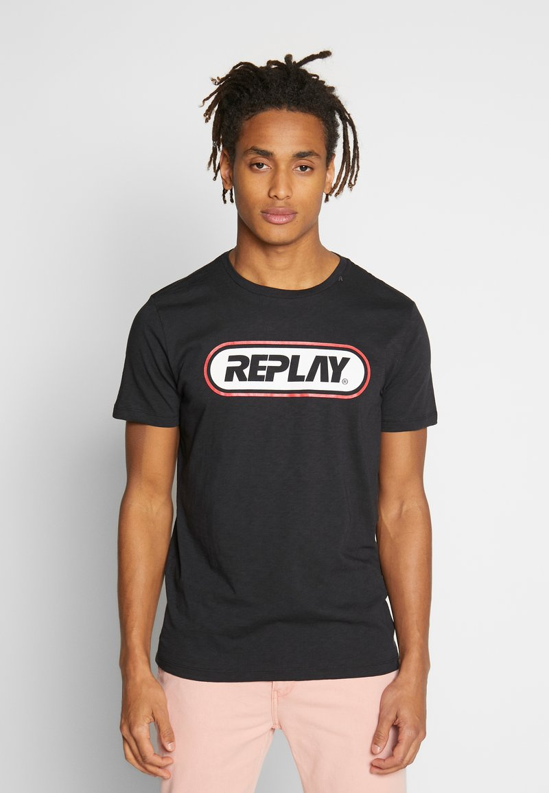 Replay - Print T-shirt - blackboard