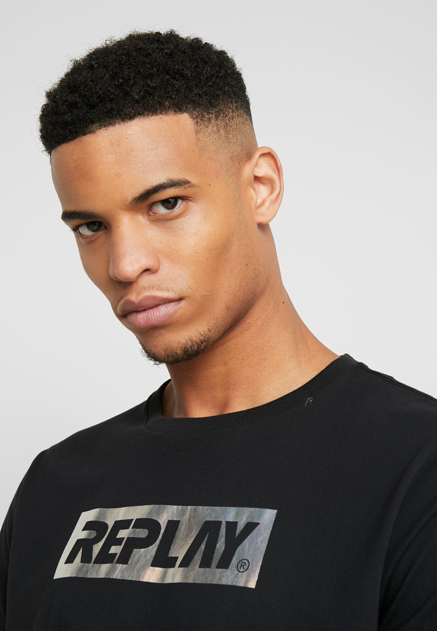 Replay T-shirt Con Stampa - Black bJmDx