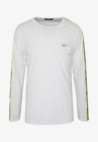 Replay - Maglietta a manica lunga - white/neon yellow - 4