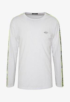 Bluzka z długim rękawem - white/neon yellow
