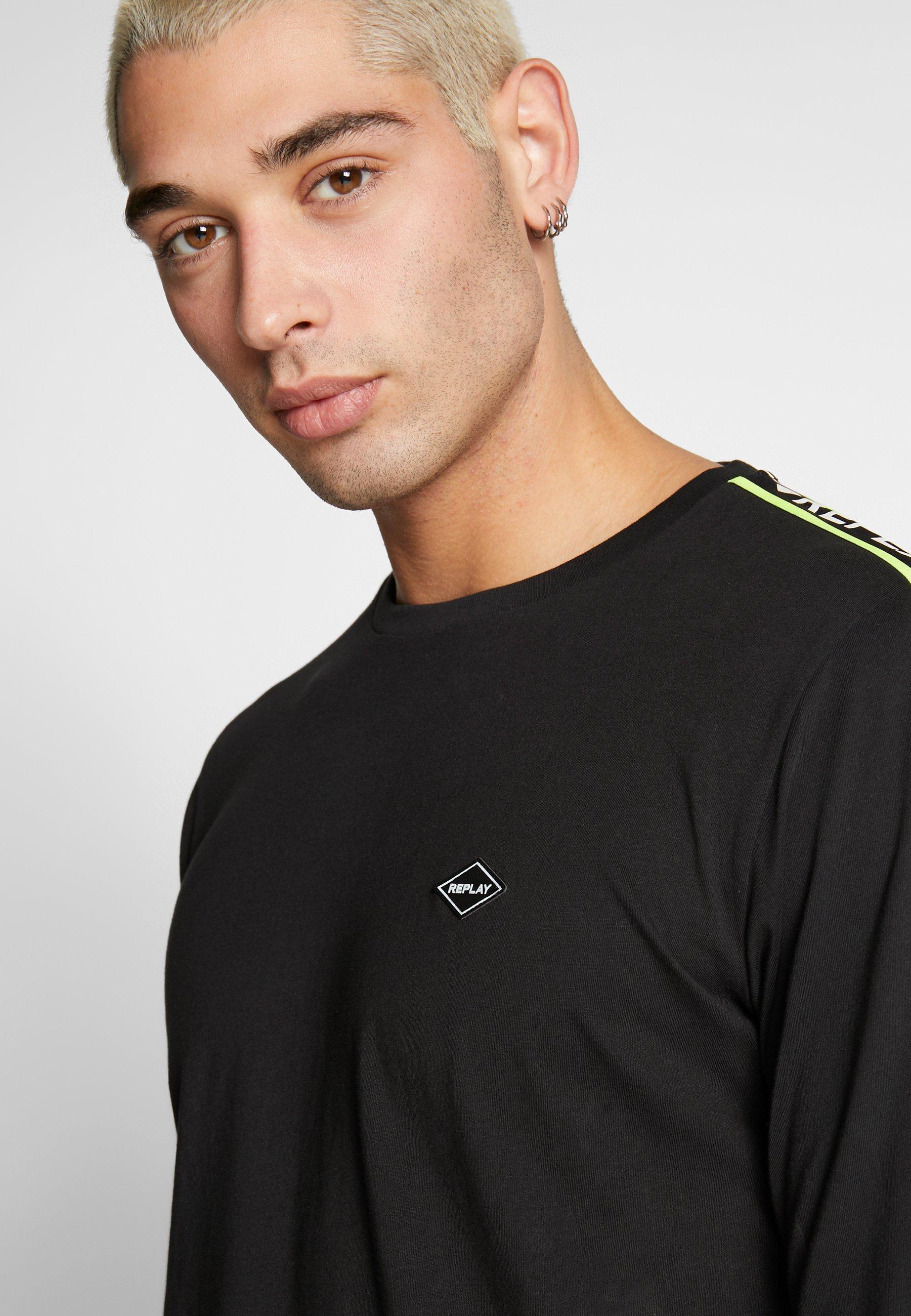 Replay Langærmede T-shirts - Black