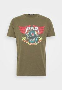 Replay - Print T-shirt - olive - 4