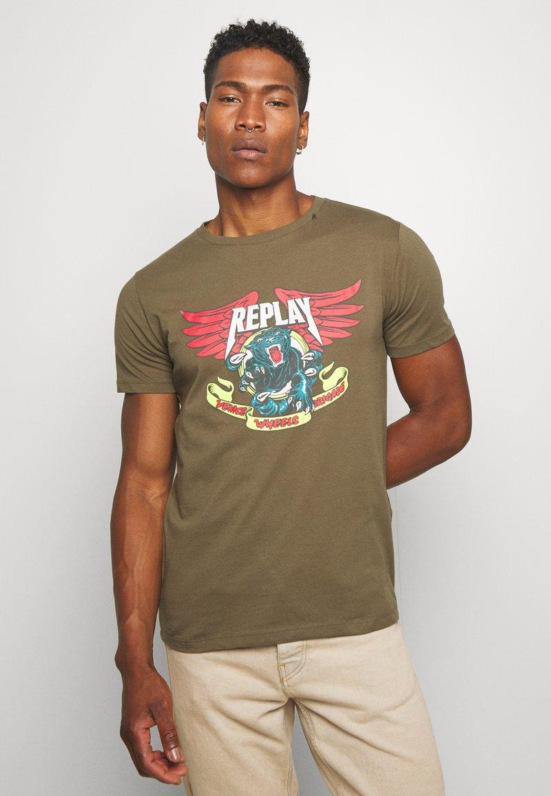 Replay - Print T-shirt - olive