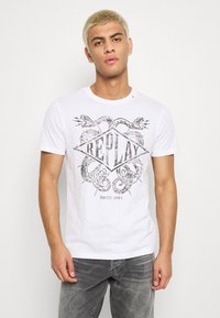 Replay - T-shirt con stampa - white - 0