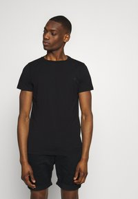 Replay - 3 PACK - Basic T-shirt - black/grey melange/white - 5