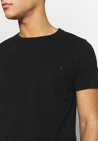 Replay - 3 PACK - T-shirt basique - black/ grey melange/ bordeaux melange - 7