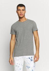 Replay - 3 PACK - T-shirt basique - black/ grey melange/ bordeaux melange - 4