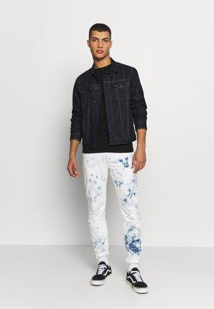 3 PACK - T-shirt - bas - black/ grey melange/ bordeaux melange