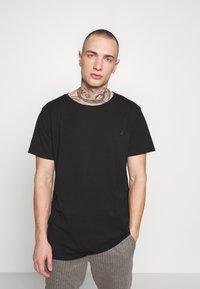 Replay - 3 PACK - Basic T-shirt - black/navy melange/white - 1