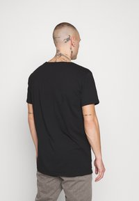 Replay - 3 PACK - Basic T-shirt - black/navy melange/white - 2