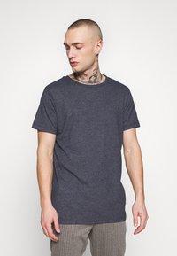 Replay - 3 PACK - Basic T-shirt - black/navy melange/white - 3