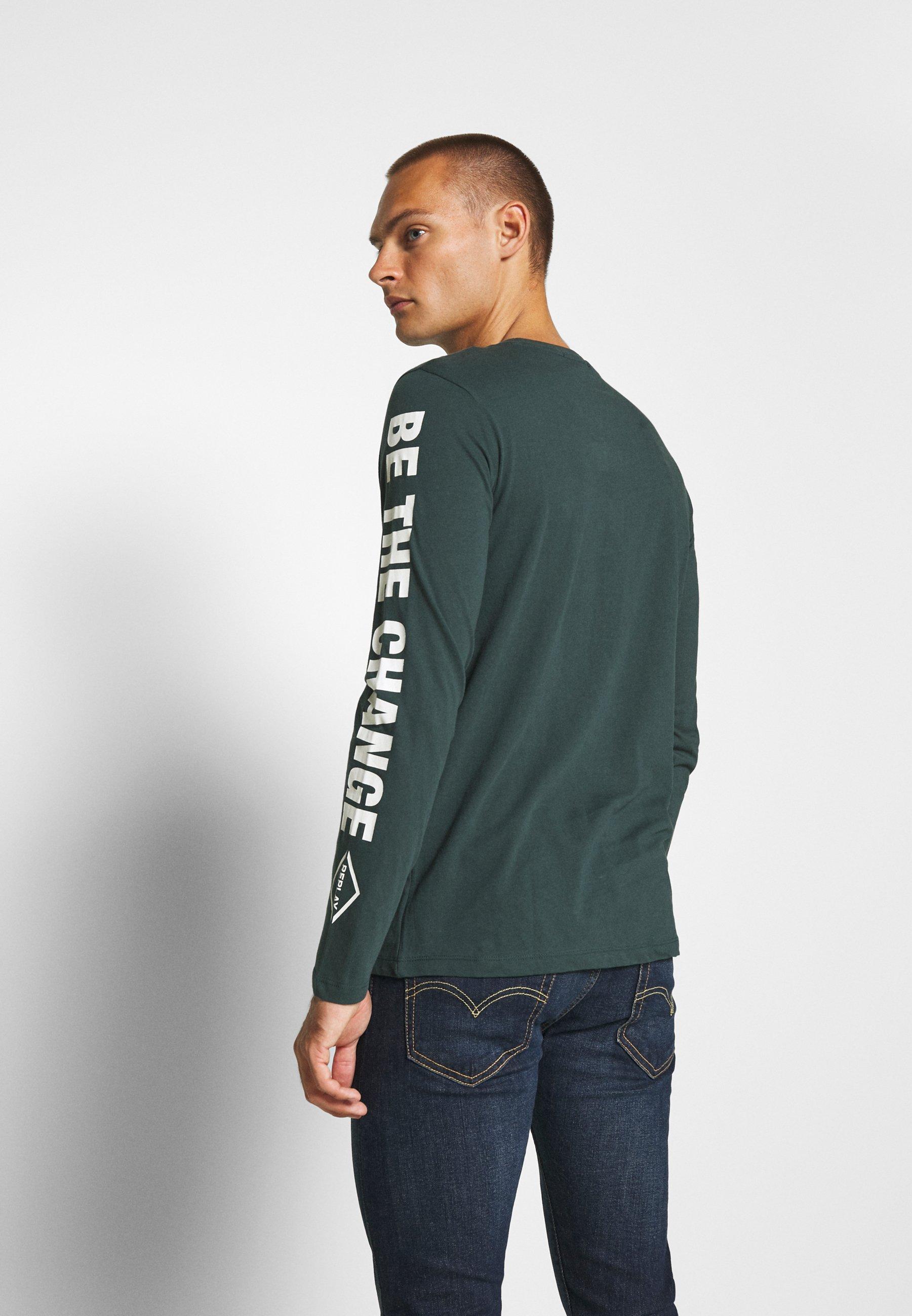 Langærmede T shirts bottle green