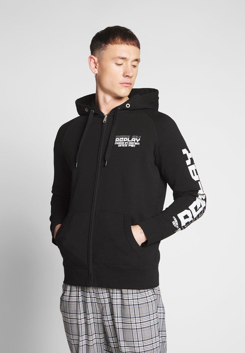Replay - Zip-up hoodie - black