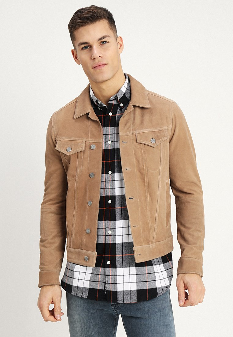Replay - Leather jacket - honey