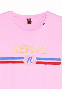 Replay - T-shirt print - pink fluo - 3