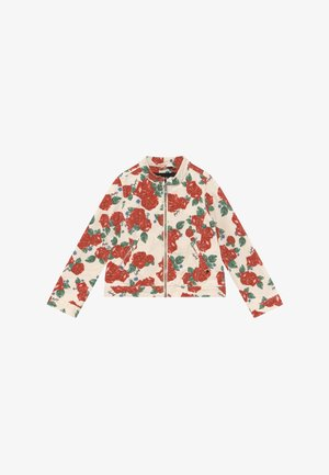 Denim jacket - white/red